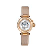 Montre Cartier Femme Miss Pasha Quartz or rose diamants