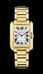 Montre Cartier Tank Anglaise Petit modele or jaune